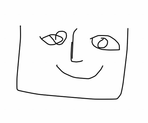 AIが顔を想像して描いたもの