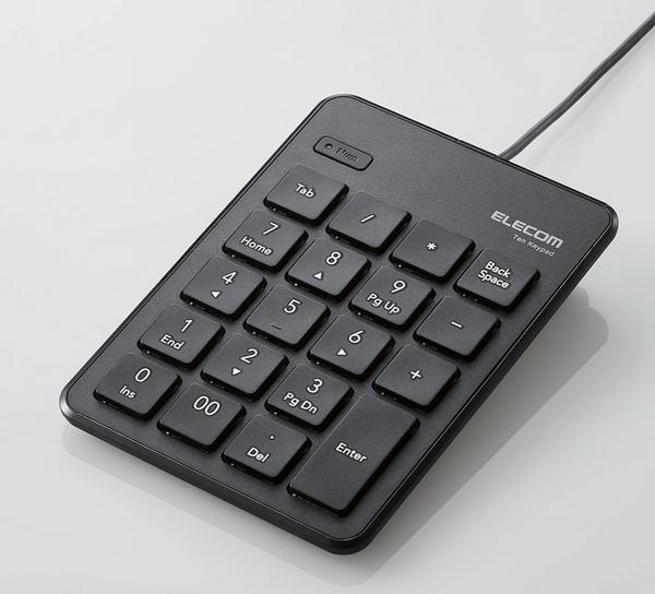 """有線タイプ """"TK-TCP018BK""""〈ブラック〉"""