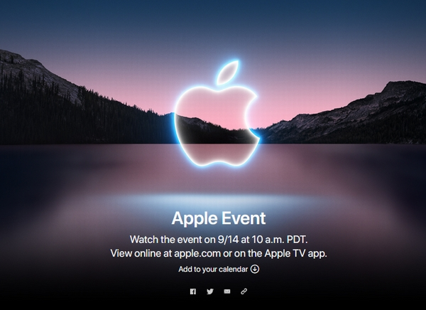 Apple、iPhone13の発表会を9月15日に開催。発表ロゴはカメラ機能強化を示唆か