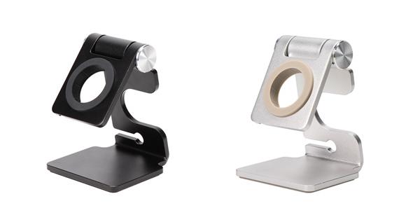 MOTTERU、Apple Watchを載せたまま充電可能なアルミスタンドを発売