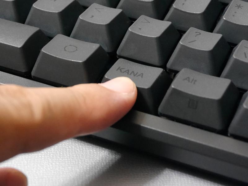 同時押しした順に全てのキーを認識する「Nキーロールオーバー機能」を搭載します
