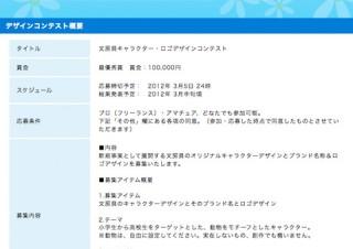 文房具キャラクター・ロゴデザインコンテスト
