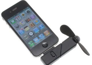エバーグリーン、iPhoneなどで使えるDock接続式のミニ扇風機を発売