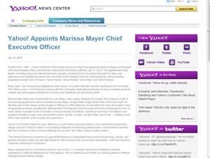 Googleのマリッサ・メイヤー氏が米Yahoo!の新CEOに就任