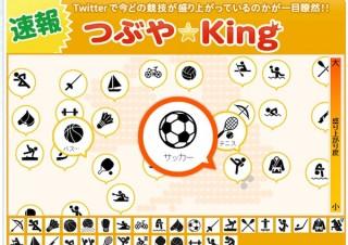 Yahoo! のオリンピック特集サイトで「速報!! つぶや☆king」公開
