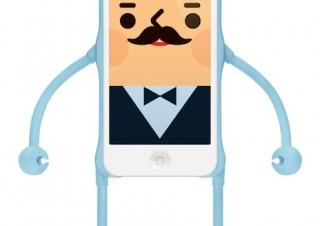 手足が動く人型iPhone5用デザインフィギュアケース「appitoz」が発売