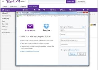米Yahoo!、添付ファイルでDropboxと連携しメールサービスを強化