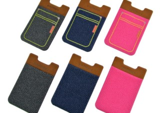 エバーグリーン、スマホに貼ってカード収納部を追加できるポケットを発売