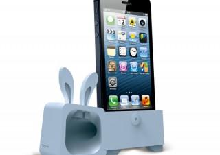 プレアデス、動物型のiPhone5用スピーカースタンド「OZAKI O!music Zoo」