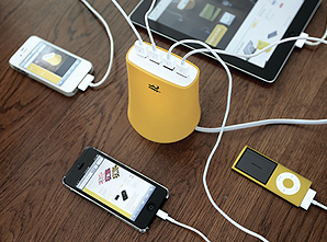 タブレット1台とスマホ3台を同時に急速充電できる「5.1A USB4ポート充電器」が発売