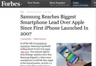 スマホの世界シェアは33.1%でサムスンが独走--Appleにダブルスコア以上の差をつける