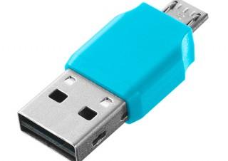 アイ・オー、microSDをUSBメモリ風に扱えるカードリーダー「IS-ADP」