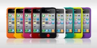 プレアデス、特徴的なホームボタンを備えたiPhone 4用シリコンケース「SwitchEasy Colors for iPhone 4」