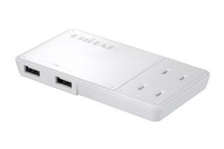 プリンストン、持ち運びやすい薄型のUSBポート付き電源タップを発売