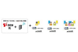 NTT Com、「OCN光サービス」と「OCN モバイル ONE」のセット割引「OCN光モバイル割」