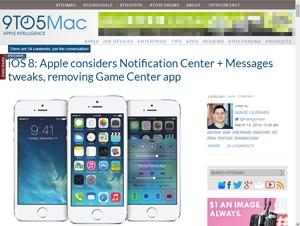 iOS 8新機能情報が報道、通知センターがシンプルに