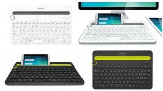ロジクール、3つのデバイスを切り替え操作できるキーボード