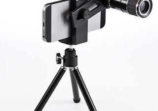 サンワサプライ、iPhone6対応光学12倍レンズキット