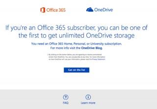 マイクロソフト、クラウドストレージOneDriveを容量無制限に