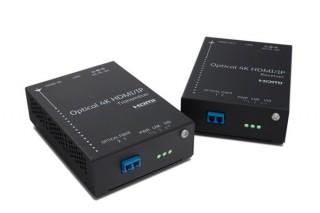 4KデータとLANデータを同時伝送できる光伝送器が発売