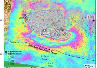 国土地理院、ネパール地震による地殻変動についてWebで公開