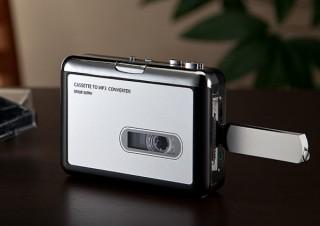 サンワ、無音部分を検知して曲を自動的にファイル分割できるカセットテープMP3変換プレーヤーを発売