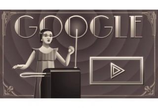 今日のGoogleロゴはクララ・ロックモア生誕105周年