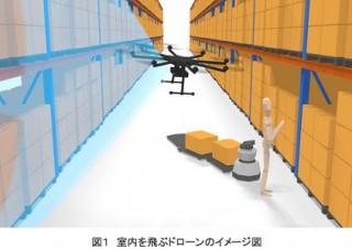 リコー、挙動制御と超広角カメラで非GPS環境下のドローンの屋内飛行に成功