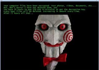 映画「ソウ」のビリーが脅迫メッセージを送り、ユーザーを恐怖させるランサムウェア発見