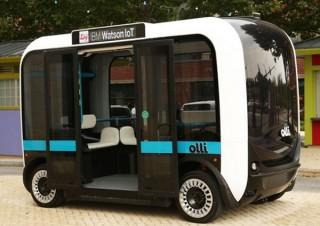 3Dプリンタで作られたミニバス、IBMの人工知能を搭載してワシントンを走る