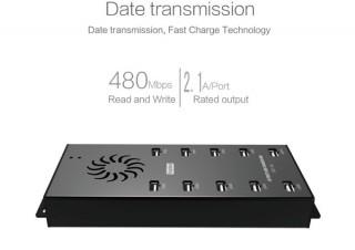 全ポートが2.1A対応!10ポートと20ポートのタブレット用充電USBハブが発売