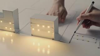 電子回路ペンでテクノロジーとアートが融合した世界観を表現しているWebムービーを関電工が公開