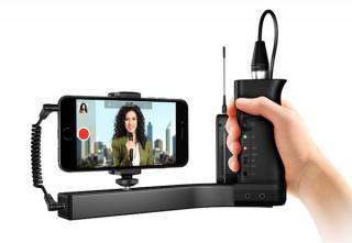 フォーカル、スマホ用マイクプリアンプ内蔵ビデオグリップ「iKlip A/V」を発売