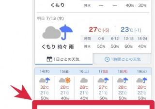 熱中症やポケモン探しにも便利、Yahoo!天気が「現在の気温」機能を追加