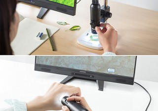 サンワ、手持ちでもスタンド固定でも使えるデジタル顕微鏡を発売