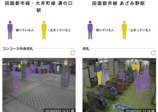 東急電鉄、好評だった駅構内画像配信サービス「駅視-vision」を10月上旬に正式開始