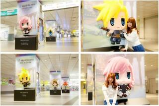 FFシリーズの人気キャラクターが渋谷駅をジャック!近付くとセリフが流れる巨大フィギュアが登場