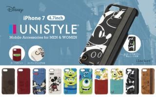 PGA、ディズニーキャラクターが描かれたポケット付きのiPhone7用ケースを発売