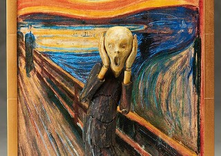 ムンク、叫ぶだけじゃなくハートポーズやダブルピースもキメる テーブル美術館「叫び」