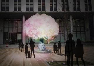 プロジェクションマッピング演出などで冬なのに花見を楽しめる「堺桜彩イルミネーション2016」