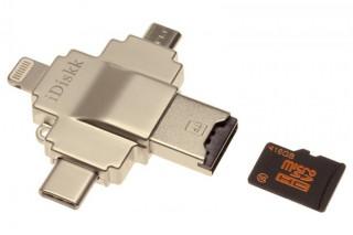 上海問屋、Type-CやLightningなど4種のコネクタを備えるmicroSDカードリーダーを発売