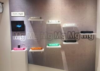 マクルウ、電源不要のマグネシウム製スマホ用スピーカー「バイオン-Mg60」の展示を開始