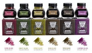 プラチナ万年筆、色の経年変化を楽しめる6色の万年筆用インク「CLASSIC INK」を発売