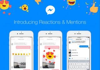 """Facebookのメッセンジャー、特定のメッセージに""""超いいね""""するリアクション機能など搭載"""