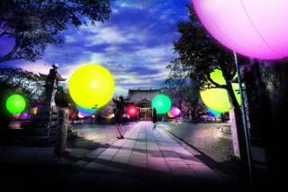 チームラボが玖島城址の森と大村神社をインタラクティブな光のアート空間にするイベントが開催