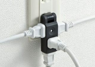 サンワサプライ、旅行や出張に便利なスイングプラグ式小型電源タップを発売