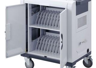 サンワサプライ、ノートPCやタブレットなどを24台保管・充電できる「キャスター付き保管庫」発売