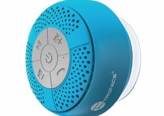濡れた壁に吸い付く吸盤式Bluetoothスピーカー「TT-SK03」に新色ブルーが追加