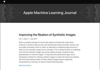 アップルが開設したブログ「マシンラーニング・ジャーナル」を始めた真意とは?