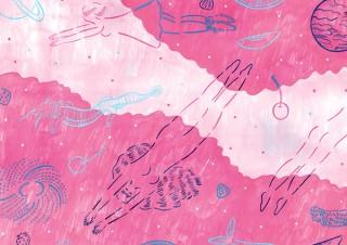 約3年振りに新作が発表される庄子佳那氏のイラストレーション展「スカッシュパンチ」